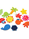 colorées sur l'océan de la vie aimants thème réfrigérateur (12-pack)