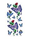 6 pcs tatouage de papillon mixtes temporaires