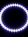 phare de voiture / lumière décorative (lumière oeil ange, 39 LED, 12cm, blanc)