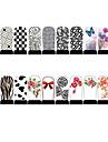 12pcs ongles armures d'art feuille enveloppe de patch autocollants blanc série