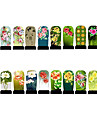 12st nail art folie armor wraps patch stickers-groen-serie