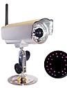 Waterproof All Metal Outdoor IP Wireless Camera, 24 IR Night Vision LED