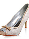 högsta kvalitet spets / flash pulver övre stilettklack peep toe mode skor