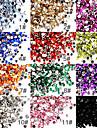 50 Nagelkonst Akrylpaljetter 2mm Dekoration