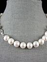 singur fir 12-13mm de apă dulce colier de perle - 17.5 la 18 inch