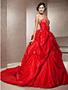 Lanting Bride® Da ballo Petite / Taglie forti Abito da sposa - Classico / Moderno Abiti sposa colorati Strascico da cappellaSenza