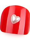 20pcs perles nail art nail art décoration perle 6mm en forme de coeur