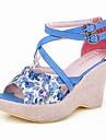 konstläder kil sandaler med spänne för fest / kväll (fler färger)