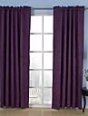 néoclassiques deux panneaux solides beige violet rideaux de la chambre opaques