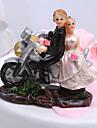 Vârfuri de Tort Cuplu Clasic / Vehicul Rășină Nuntă / Petrecerea Bridal Shower Alb / Negru Temă Grădină Cutie de Cadouri