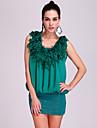 TS floral impodobita strălucitoare rochie elastic (mai multe culori)