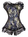 Brocade față corset închidere bust cu dezosare (mai multe culori) lenjerie sexy formator