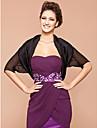 Short Sleeve Silk/ Polyester Office & Career Evening Jackets/ Wraps Bolero Shrug