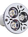 3W GU10 Spot LED MR16 3 LED Haute Puissance 300 lm Blanc Chaud AC 85-265 V