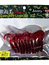 doux appâts courbes queue ver paquets en plastique de pêche aux leurres (10 pcs / couleur assortie)