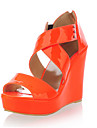 Patent Leather Wedge Heel Sandals / Wedges With Rivet / Zipper Party & Evening Shoes (More Colors Available)