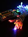 4 culori cu LED-uri lampă 3m lumina 2-mode șir zână de Crăciun (3xAA)
