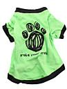 Hundar T-shirt Grön Hundkläder Sommar Bokstav & Nummer Ledigt/vardag