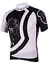 KOOPLUS® Maillot de Cyclisme Homme Manches courtes Vélo Respirable Séchage rapide Maillot Hauts/Tops Polyester 100 % PolyesterPrintemps