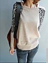 Leopard liitos holkki pyöreä kaula neuloa paita