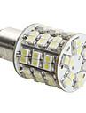 1157 4W 60x3528 SMD LED-glödlampa till bilbroms med vitt ljus (DC 12V)