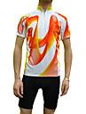 JAGGAD® Maillot de Cyclisme Homme Manches courtes Vélo Respirable / Séchage rapide Maillot / Hauts/Tops Polyester / Coolmax Mosaïque