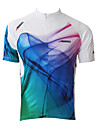 JAGGAD® Maillot de Cyclisme Homme Manches courtes Vélo Respirable / Séchage rapide Maillot / Hauts/Tops Polyester / 100 % Polyester Rayure