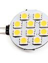 1.5W G4 LED-spotlights 10 SMD 5050 90 LM Varmvit DC 12 V