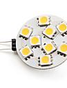 3W G4 LED-spotlights 9 SMD 5050 100 lm Varmvit DC 12 V
