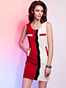TS elegant de culoare bloc rochie teaca