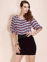 TS Loose Strips Blouse Shirt