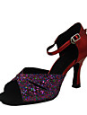 Chaussures de danse (Jaune/Rouge Talon aiguille - Paillettes scintillantes/Similicuir - Danse latine/Salle de bal