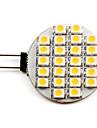 1W G4 LED-spotlights 24 SMD 3528 50 lm Varmvit DC 12 V