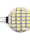 1.5W G4 Spot LED 24 SMD 3528 60 lm Blanc Naturel DC 12 V