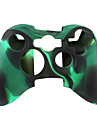 skyddande tvåfärgad silikon etui till Xbox 360 Controller (svart och grön)