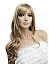 Capless långt lockigt hög kvalitet syntetiskt hår peruk