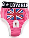 Chien Pantalon Incanardin Vêtements pour Chien Printemps/Automne Drapeau national Britannique