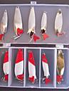 10 pcs Poissons nageur/Leurre dur Appât métallique Kits de leurre leurres de pêcheAppât métallique Poissons nageur/Leurre dur Kits de