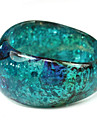 Ladies' Resin Round Bangles Classic Bracelet In Ocean Blue