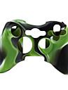 skyddande tvåfärgad silikon etui till Xbox 360 Controller (grönt och svart)