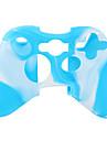 caz de protecție silicon dual-culoare pentru Xbox 360 controler (alb și albastru)