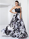 Prom/Formal Evening/Military Ball Dress - Black Plus Sizes A-line/Princess Sweetheart/Strapless Floor-length Stretch Satin