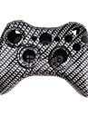 Etui de Remplacement en Fibre de Carbone pour Manette Sans Fil Xbox 360 - Noir