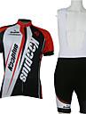 KOOPLUS® Cykeltröja med Bib-shorts Herr / Unisex Kort ärm Cykel Andningsfunktion / Snabb tork / Dragkedja framCykeltröja + cykelshorts