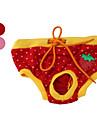 Chien Pantalon Rouge / Incanardin Vêtements pour Chien Printemps/Automne Fruit