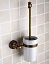 """Porte Brosse de Toilette Laiton Antique Fixation Murale 120 x 150 x 430mm (4.72 x 5.90 x 16.9"""") Laiton Antique"""