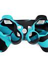 Skyddande tvåfärgat silikonfodral till PS3-spelkontroll (blå och svart)