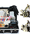 2 tatueringsmaskin kit med högsta kvalitet LCD strömförsörjning