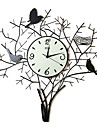 """26 """"oiseaux repasser horloge murale"""