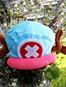 Chapeau/Casquette Inspiré par One Piece Tony Tony Chopper Anime Accessoires de Cosplay Mancherons / Chapeau Bleu / Rose Velours Masculin